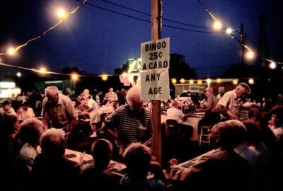 Photo: The bingo table at the Old Settler's Picnic in Western, Nebraska.