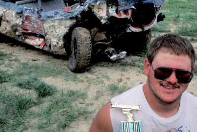 Photo: A winner at the Jefferson County Fair's Demolition Derby in Fairbury, NE.