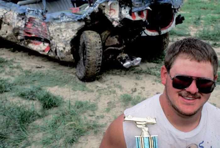 Photo: A winner at the Jefferson County Fair's Demolition Derby in Fairbury, NE.