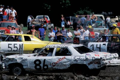 Photo: Scene from the Jefferson County Fair's Demolition Derby in Fairbury, NE.