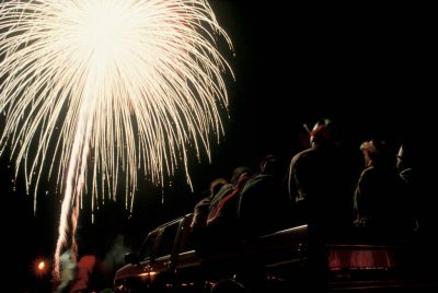 Photo: Fireworks finish off a small town festival in Nebraska.
