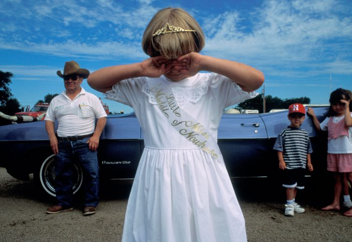 """Photo: """"Little Miss Middle of Nowhere"""" -- a pageant winner at Ainsworth, Nebraska's """"Middle of Nowhere"""" festival."""