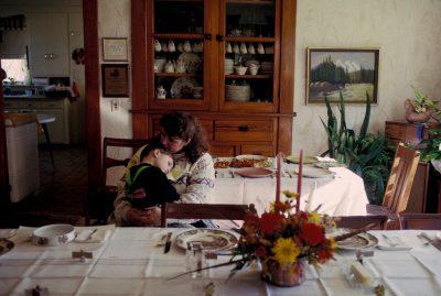 Photo: Thanksgiving Day at Floyd & Gertrude Trumble's Nebraska farmstead.