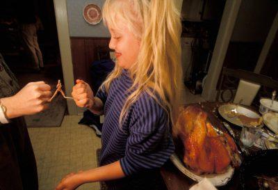 Photo: Thanksgiving dinner at the Vestecka house in Nebraska.