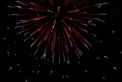 Photo: The July Fourth fireworks display in Greenleaf, KS.