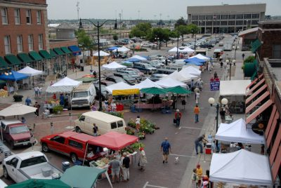 Photo: The Farmer's market in Lincoln's historic Haymarket district.