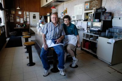 Photo: Owners of Roth's Cafe in Milford, NE.