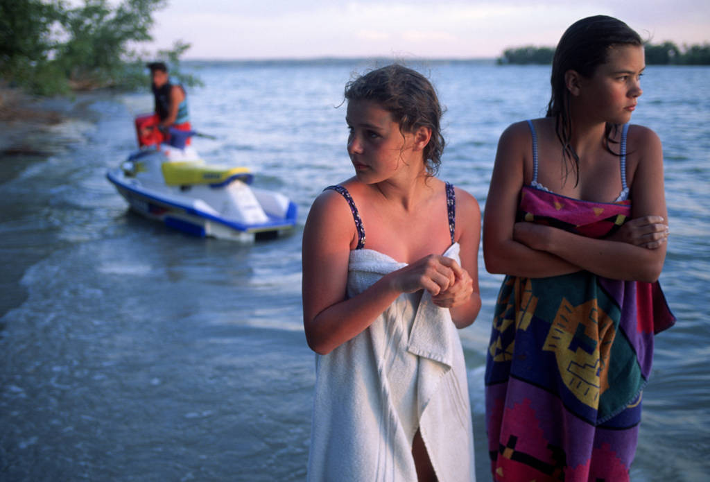 Photo: Two girls relax at Lake McConaughy in Nebraska.