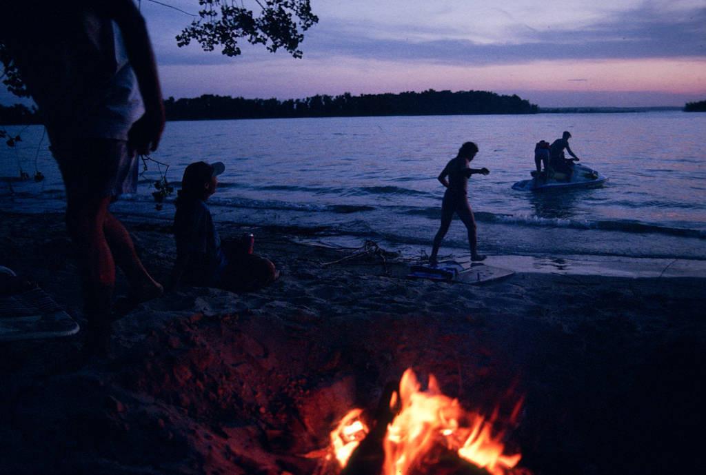 Photo: Campers at Lake McConaughy in Nebraska.