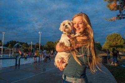Photo: A teenage girl and her shih tzu, Lincoln, Nebraska.