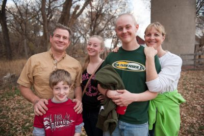 Photo: The Sartore family, at Roca Scary Farm (also known as Roca Berry Farm.)