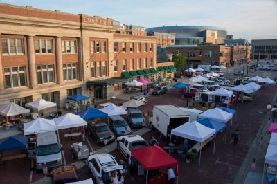 Photo: The Farmer's Market in the historic Haymarket district of Lincoln, Nebraska.