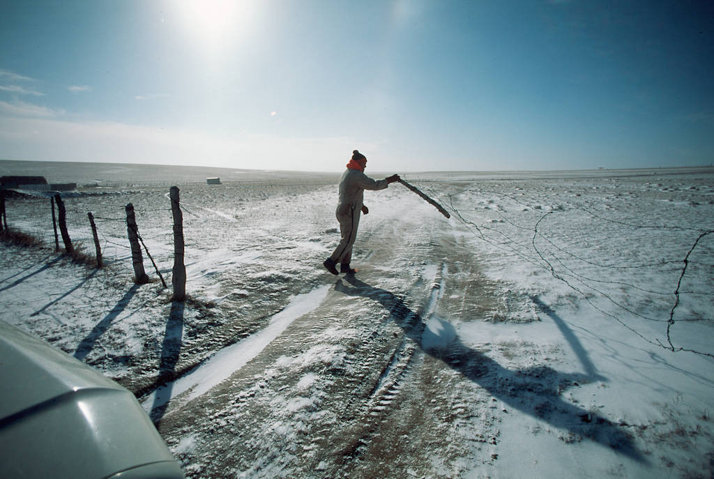 Photo: Braving temperatures of -20 F and windchills down to -60, the men of the C.B. Bledsoe Ranch in Colorado head out for chores.