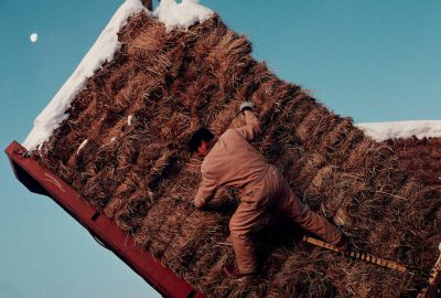 Photo: Workers at the Flournoy Ranch in northern California load up hay on a cold January day.