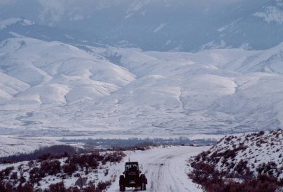 Photo: A rancher takes back roads out to do chores on a winter day near Salmon, Idaho.