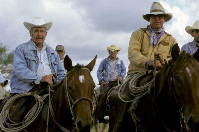 Photo: Cowboys at a ranch on the Tex-Mex border.