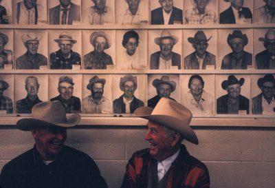 Photo: Two farmers socialize in California.
