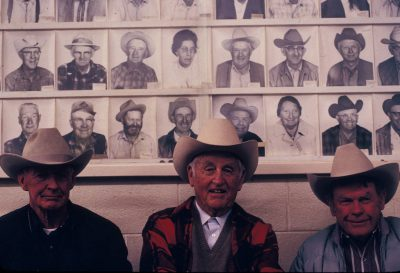 Photo: Three farmers socialize in California.