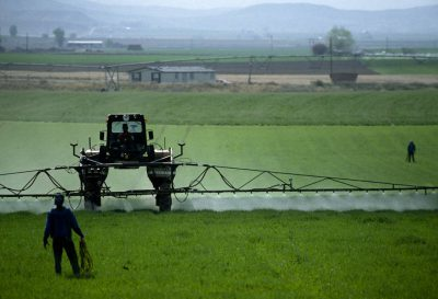 Photo: Chemicals being sprayed on a field in Idaho