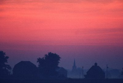 Photo: Sunrise over rural Flatville, Illinois.