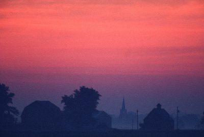 Photo: Sunrise over rural Flatville, Illinois.