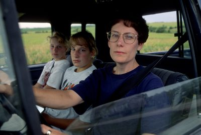 Photo: A mother and her two daughters in rural Nebraska.