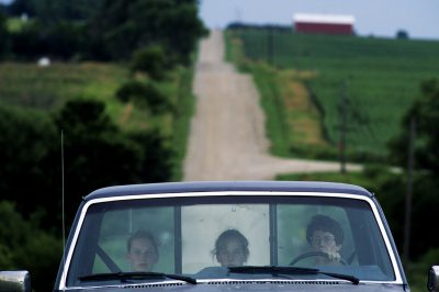 Photo: Mother and daughters in rural Nebraska.