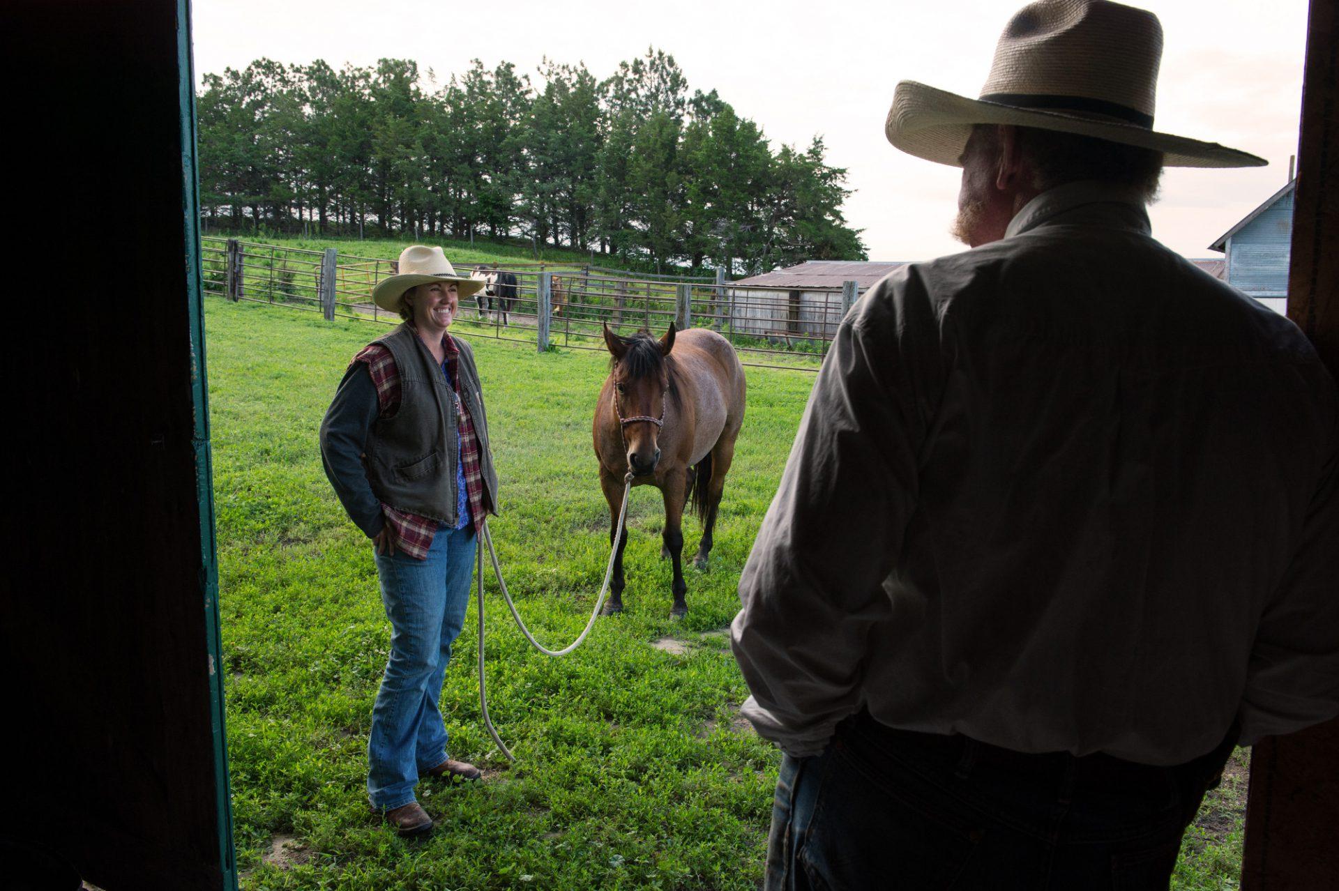 Photo: Branding at the Switzer Ranch.