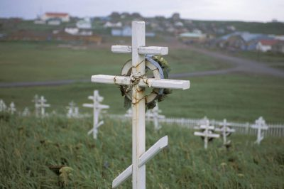 Photo: Graveyard on St. Paul Island in the Pribilofs (Alaska).