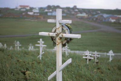 Photo: Graveyard on St. Paul Island in the Pribilofs (Alaska).