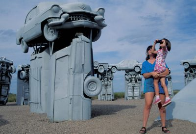 Photo: Kids at Carhenge near Alliance, Nebraska.