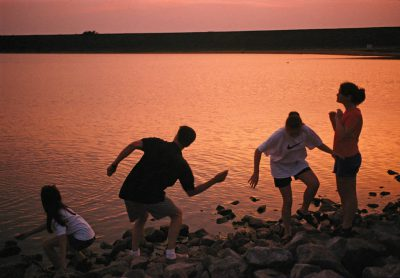Photo: Skipping rocks at Holmes Lake in Lincoln, Nebraska.