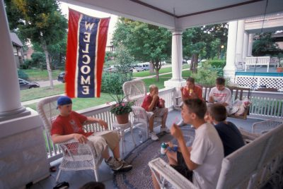 Photo: Teenage boys hang out on a porch in Lincoln, Nebraska.