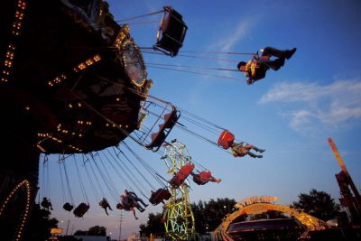 Photo: Swings at the State Fair in Lincoln, NE.