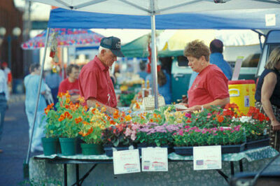 Photo: The Farmer's Market in Lincoln, NE's historic Haymarket District.