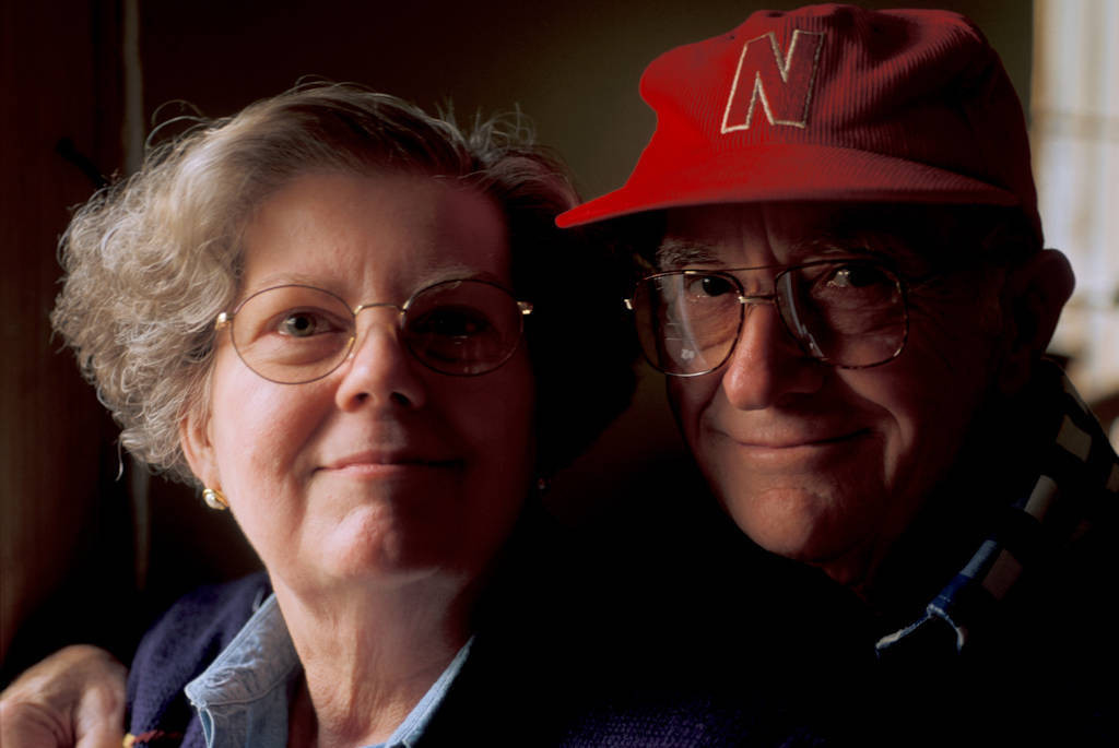 Photo: Portrait of a married couple (Lincoln, NE).