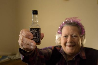 Photo: A woman celebrates her 90th birthday.