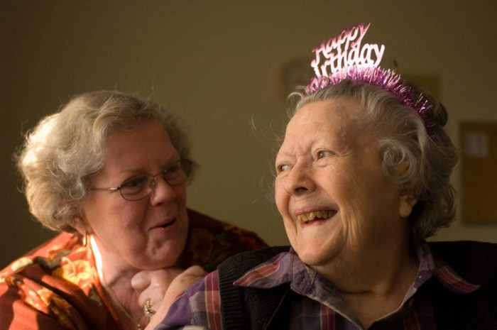 Photo: Faynell Meese celebrates her 90th birthday with her daughter, Sharon Sartore.