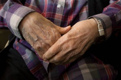 Photo: A 90-year-old woman's hands.