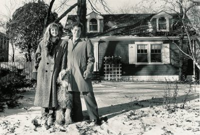 Photo: Joel and Kathy Sartore stand in front of their home in Wichita, KS.