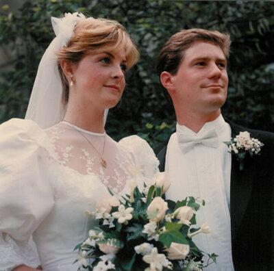 Photo: Joel and Kathy Sartore on their wedding day.