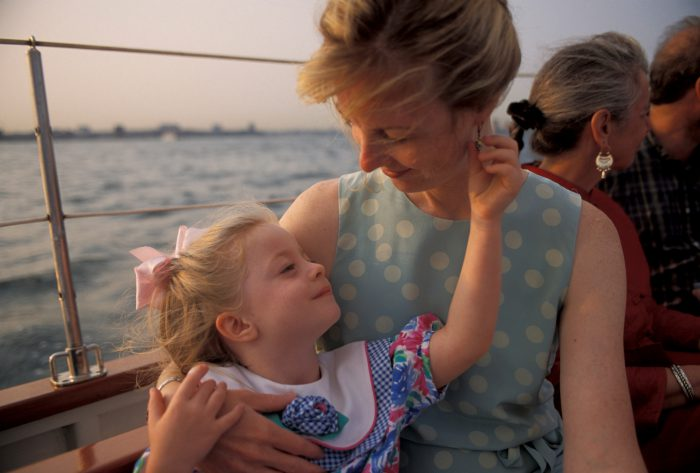 Photo: Kathy Sartore with her daughter Ellen on a sailboat in New York's harbor.