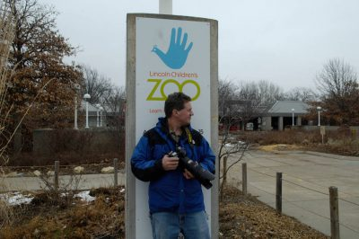 Photo: Joel Sartore at the Lincoln Children's Zoo.