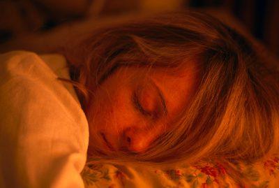 Photo: A woman sleeping peacefully.