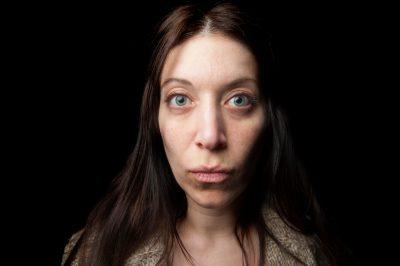 Photo: A woman makes a face.