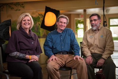Photo: NBC Nightly News' Anne Thompson interviews Joel Sartore and John Chapo at the Lincoln Childrens Zoo in Lincoln, NE.