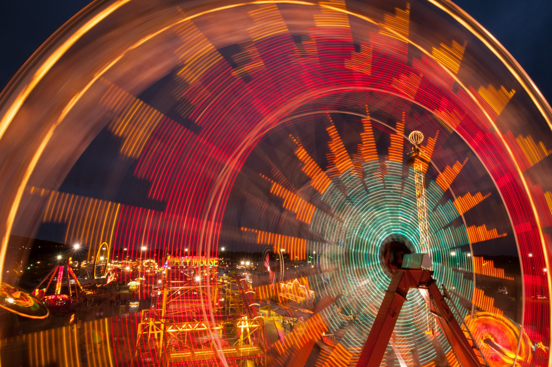 Photo: Ferris wheel at the Kansas State Fair.
