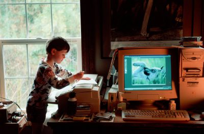 Photo: Cole Sartore works on his memoirs at his home in Lincoln, Nebraska.