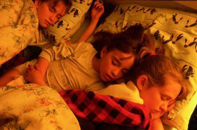 Photo: The Buschkoetter girls asleep at their family's farm in Nebraska.