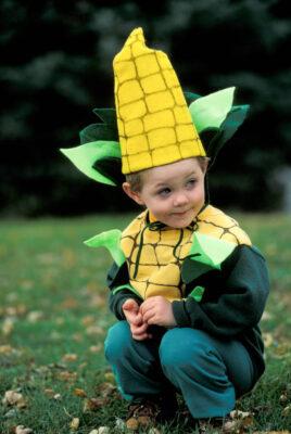 "Photo: Cole Sartore dresses as ""Corn Boy"" on Halloween at a Nebraska farm."